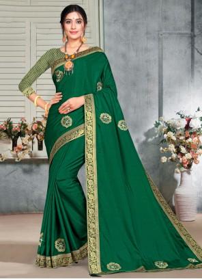 Green Silk Casual Saree