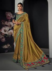 Green Silk Festival Traditional Designer Saree