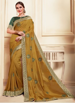 Green Silk Party Bollywood Saree