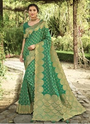 Green Silk Traditional Designer Saree