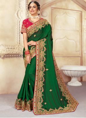 Green Silk Zari Classic Saree