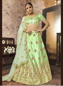 Green Silk Zari Lehenga Choli