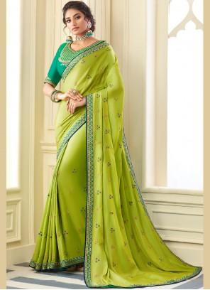 Green Silk Zari Traditional Saree