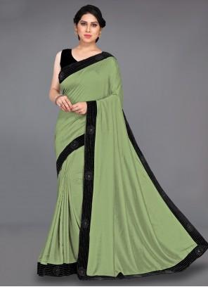 Green Stone Designer Traditional Saree