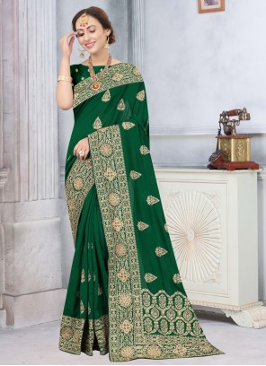 Green Stone Traditional Designer Saree