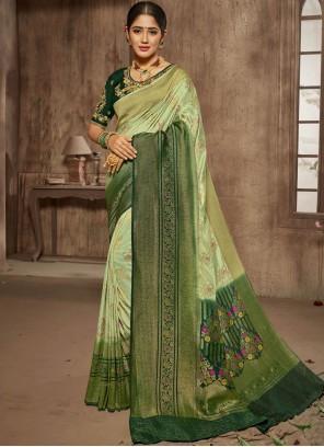 Green Thread Designer Traditional Saree