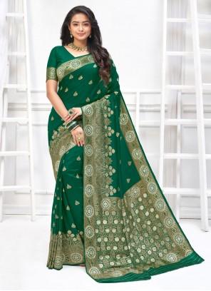 Green Weaving Art Silk Designer Traditional Saree