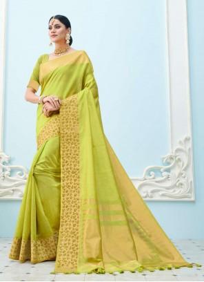 Green Weaving Bollywood Saree