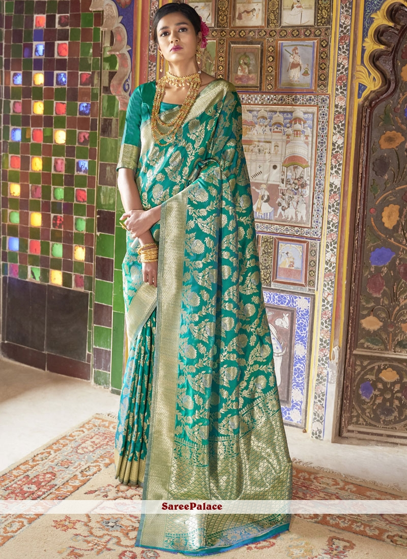 Green Weaving Traditional Saree