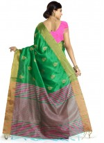 Green Weaving Work Art Silk Designer Traditional Saree