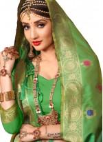 Green Wedding Art Silk Designer Traditional Saree