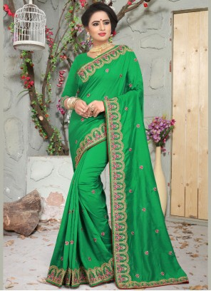Green Wedding Art Silk Designer Traditional Saree
