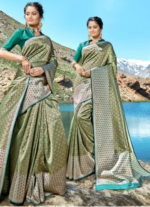 Green Wedding Classic Designer Saree