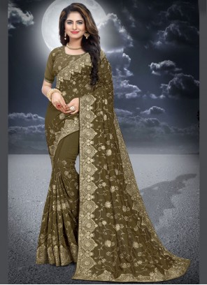Green Wedding Classic Saree