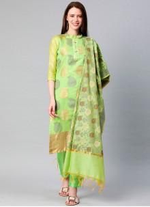 Green Woven Designer Suit