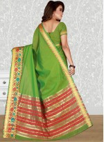 Green woven Work Traditional  Saree