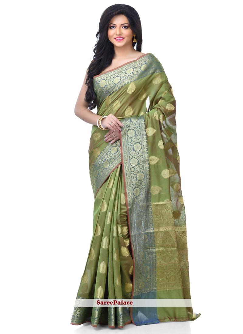 Green Zari Classic Designer Saree