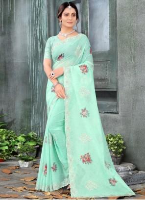 Green Zari Festival Classic Designer Saree
