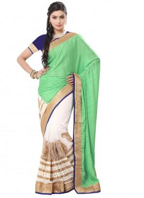 Green Zari Festival Trendy Saree
