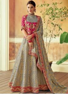 Grey Bridal Lehenga Choli