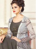 Grey Chanderi Designer Suit