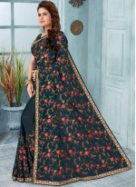 Grey Classic Designer Saree