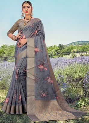 Grey Color Bollywood Saree
