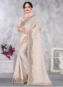 Grey Color Designer Saree