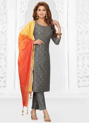 Grey Color Readymade Suit