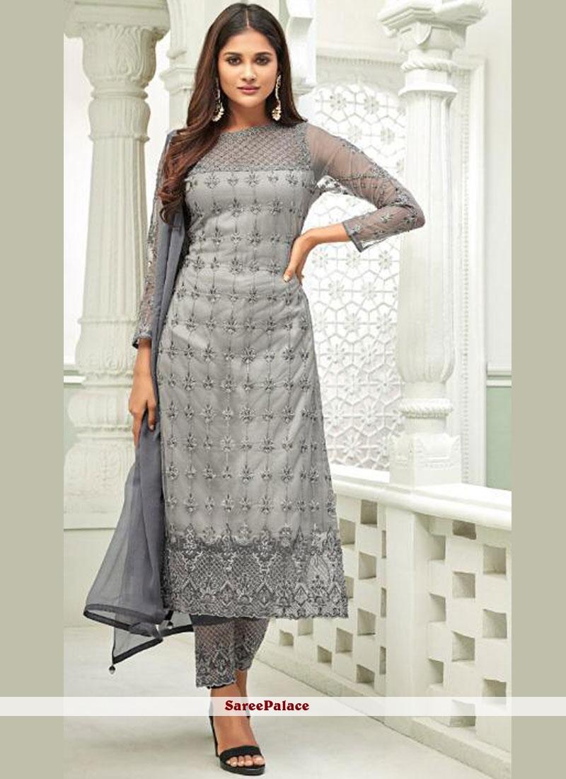 Grey Designer Salwar Suit