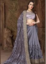 Grey Designer Traditional Saree