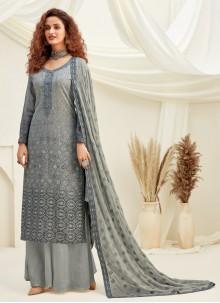 Grey Engagement Designer Palazzo Suit