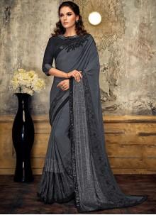 Grey Fancy Designer Saree