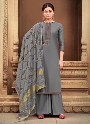 Grey Festival Designer Palazzo Suit