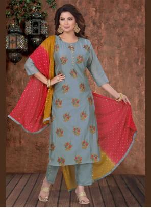 Grey Festival Designer Salwar Suit