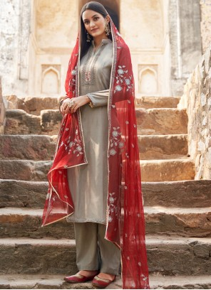 Grey Festival Salwar Suit