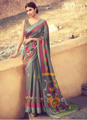 Grey Party Classic Saree