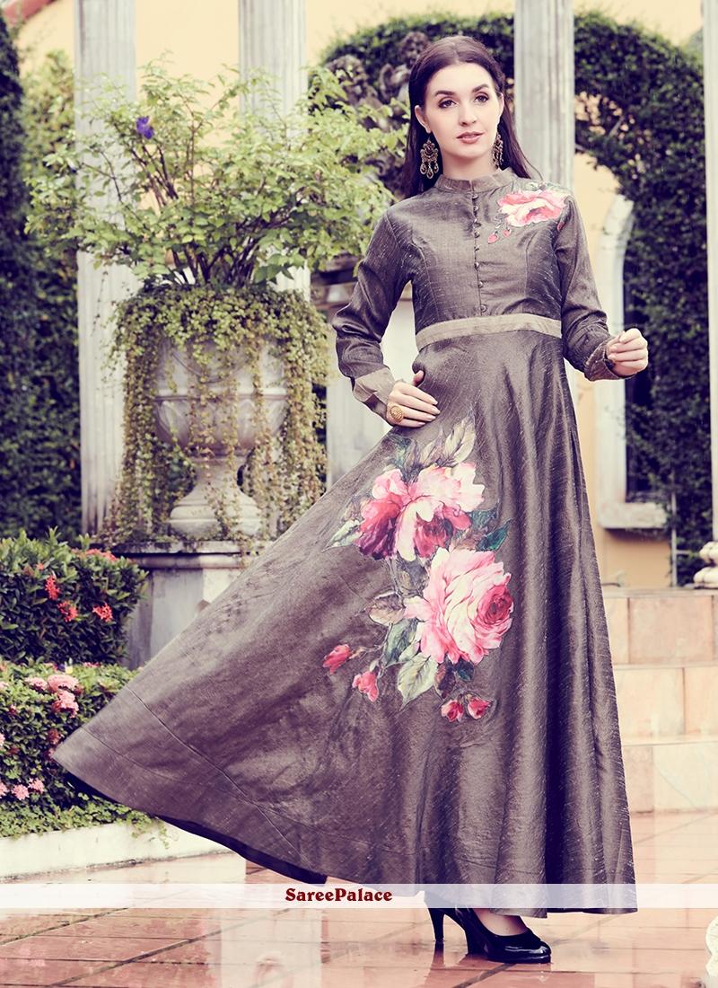 f46b5accb1 Buy Grey Party Designer Kurti Online