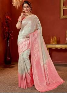 Grey Party Traditional Designer Saree