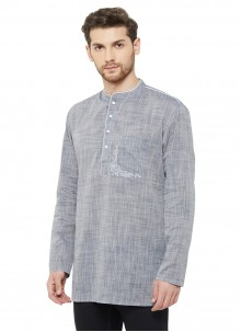 Grey Plain Reception Kurta