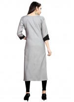 Grey Rayon Designer Kurti