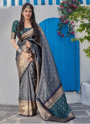 Grey Reception Classic Saree