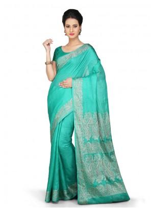 Grey Sangeet Art Banarasi Silk Designer Traditional Saree