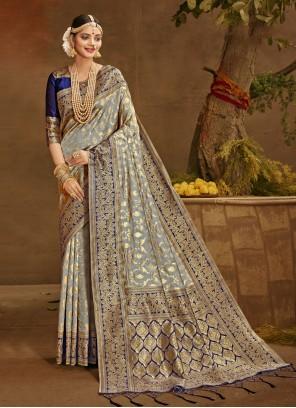 Grey Traditional Saree