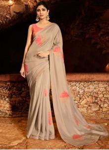 Grey Trendy Saree