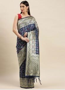 Grey Weaving Designer Traditional Saree