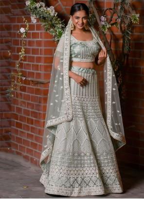 Grey Wedding Designer Lehenga Choli