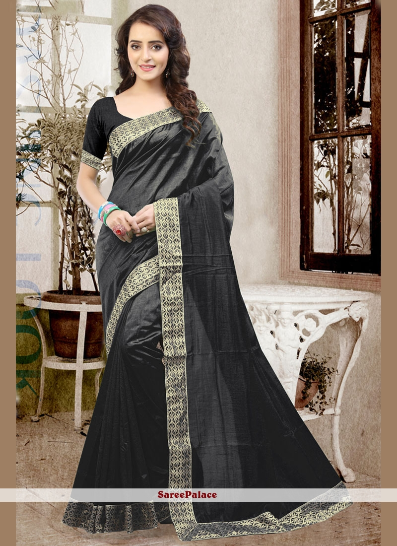 Gripping Patch Border Work Designer Traditional Saree