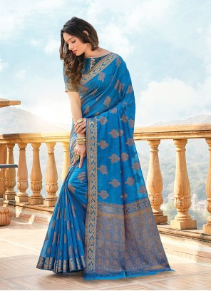 Handloom Cotton Printed Classic Designer Saree