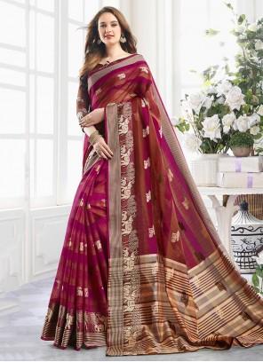 Handloom Cotton Shaded Saree